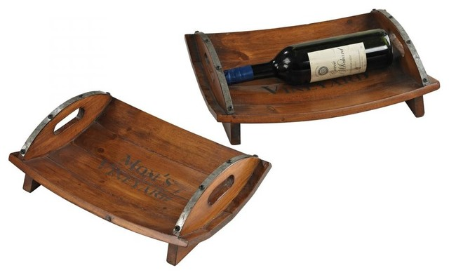 Set Of 2 Moms Vineyard Trays traditional-platters