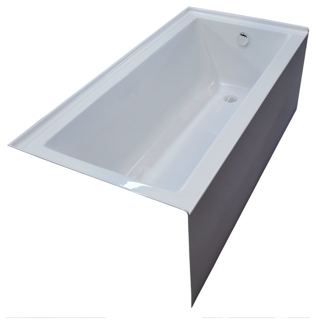 Pontormo 30 x 60 front skirted drop in bathtub soaker for Drop in soaker bathtubs