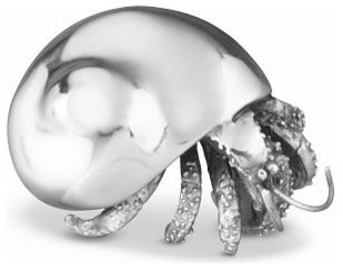Silver Hermit Crab tropical artwork