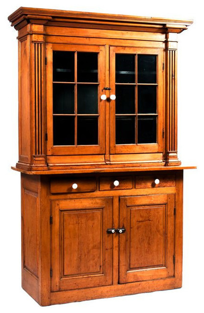 SOLD OUT! Tall Pine Armoire With Glass Doors - $1,500 Est. Retail - $ ...