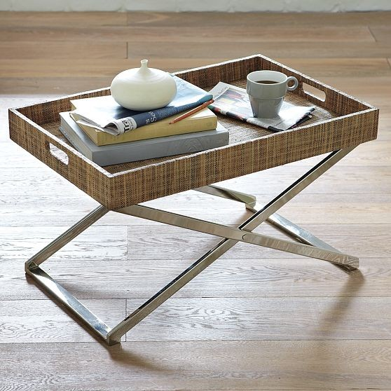 Low Butler Tray Stand Modern Serving Dishes And Platters By West Elm