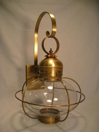 ion Antique Brass e Light Outdoor Wall Light with