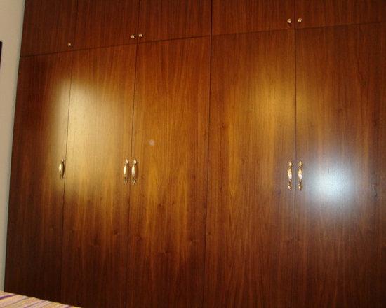 RESIDENCE 1 - CUSTOM MADE 5 DOOR WARDROBE WALLNUT VENEER MATT FINISH