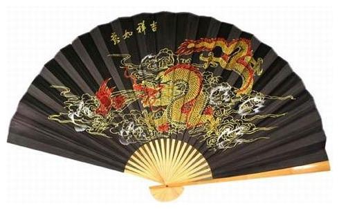 Storm Dragon Asian Wall Fan asian-home-decor