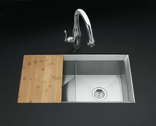 Poise Under Mount Double Equal Bowl Kitchen Sink Includes Cutting Board And Bott Modern Bath