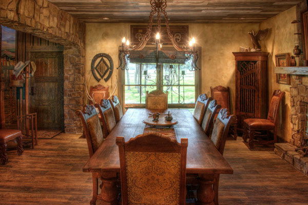South Texas Ranch - rustic - dining room - other metro - by Maison