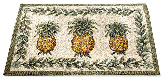 Off-White Pineapple Area Rug - 26 x 5 traditional rugs
