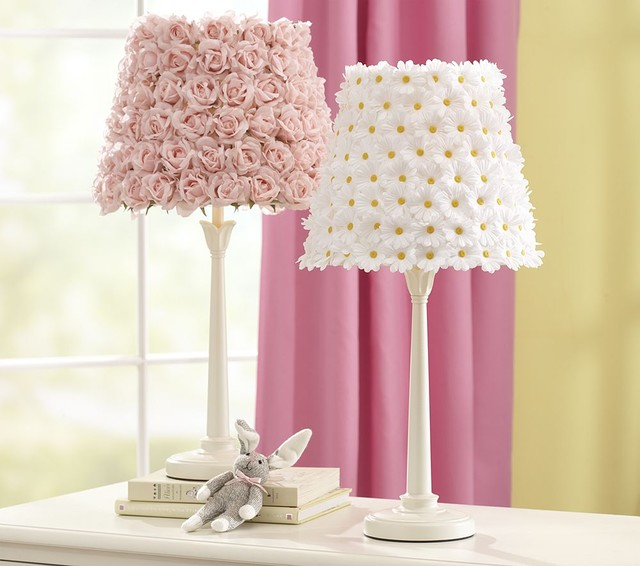 Flower Shade & Madison Touch Base traditional-kids-lamps