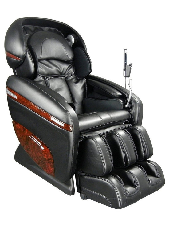Osaki OS-3D Pro Dreamer Zero Gravity Massage Chair in Black - Experience the most human like massage from Osaki. The new enhanced 3D massage rollers are designed to massage wider with and deeper than the convention massage rollers. The 3D technology allows you to extend out or protrude the massage heads up to 8 mm for a super deep massage. The 3D intensity has 5 different levels, ranging from normal to very strong. With the 3D technology, reaching and massaging the acupuncture points becomes effortless with better precision and depth, leaving you revitalized.