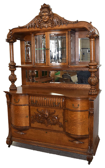 19th Century American Oak Sideboard by RJ Horner - Victorian - China ...