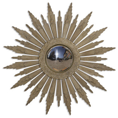 Currey and Company Solstice Convex Mirror eclectic-wall-mirrors
