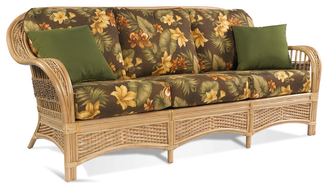 Rattan Sofa Tropical Breeze Tropical Sofas New York By Wicker Paradise