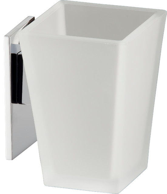 Cristal Toothbrush & Toothpaste Holder modern-bathroom-accessories