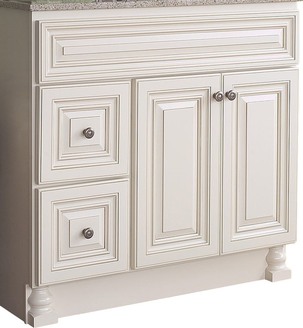 Jsi cabinetry wheaton 36 bathroom vanity base 2 doors - Bathroom vanity with drawers on left ...