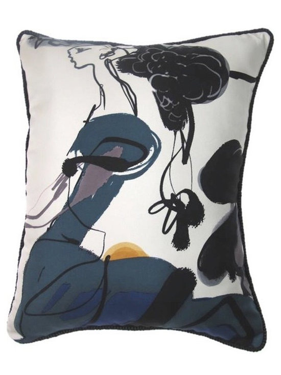 Lady in Waiting Pillow  from Christian Lacroix Scarf - TracySmithNewYork.com
