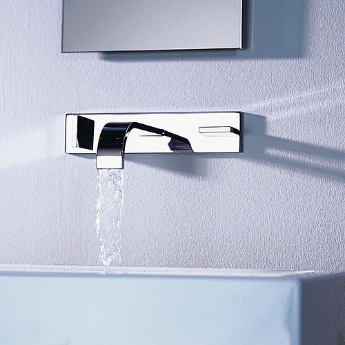 Dornbracht Mem 3 hole wall mounted faucet modern-bathroom-faucets-and-showerheads