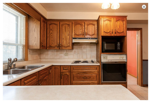 Stainless steel kitchen cabinets - 80 S Oak Kitchen Needs Short Term Paint Facelift Makeover