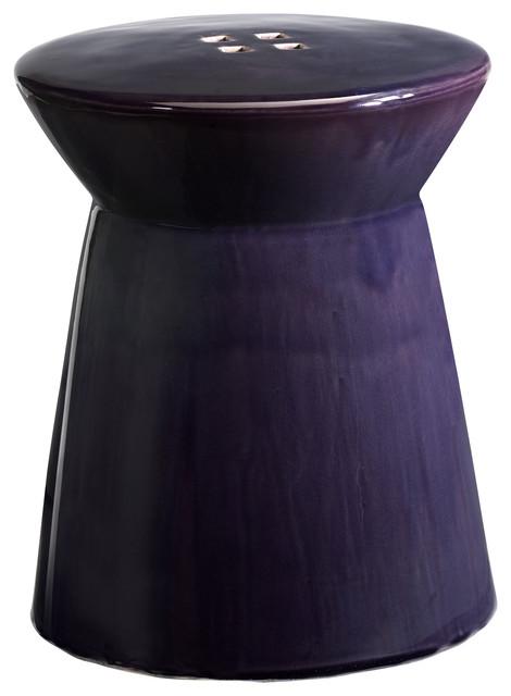 Cyan Design Purple Honeycomb Stool modern-footstools-and-ottomans