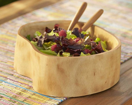 "Viva Terra - Mango Wood Salad Bowl - Hand-carved from sustainable mango wood.  No two are exactly alike.  APPROX. 11""DIAM"