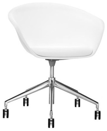 Mid-Back Leather Task Chair with Gas Lift modern-task-chairs