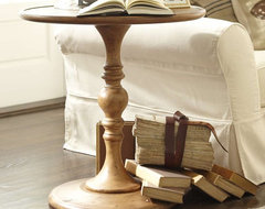 Newberry Pedestal Table - Pottery Barn traditional-side-tables-and-end-tables