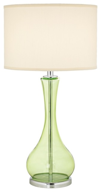 green glass table lamp contemporary table lamps by lamps plus. Black Bedroom Furniture Sets. Home Design Ideas
