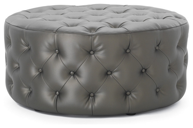Rocco Round XL Leather Ottoman contemporary-footstools-and-ottomans