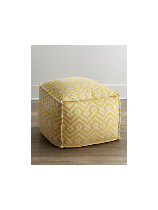 "Lee Industries - Lee Industries ""Cortez"" Ottoman - Plump ottoman with flange seams brings a bright pop of color to the room along with extra seating or a comfy place to prop your feet. Cotton/rayon/linen/polyester upholstery. Soy-based, firm polyurethane foam core with jackets of fiber on top and sides. 23""Sq. x 17""T. Handcrafted in the USA. Bo"
