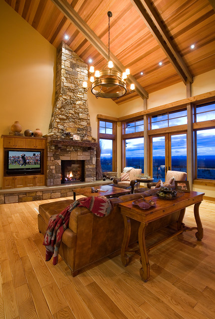 Mountain Mansion traditional-living-room