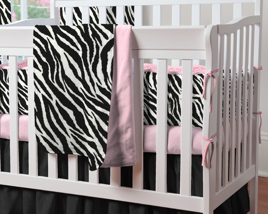 "Black and White Zebra Mini Crib Bedding - Ooh La La! Can you describe it any better? Our incredibly luxurious Black and White Zebra Minky fabric accented with Hot Pink Leopard and Satin make this a one-of a-kind bedding collection. Cheerful animal prints and cozy textures make this a beautiful cornerstone for a distinctive baby girl's nursery. The fun and funky combination of patterns and colors will make the nursery of your little princess one to be envied. Think of the fun you will have decorating around this exquisite collection! Perfect for smaller nurseries or for staying at Grandma's, portable mini-cribs are a great space-saving alternative to standard sized cribs. Our mini-crib bedding is designed to fit portable cribs using mattresses measuring approximately 24"" x 38""."
