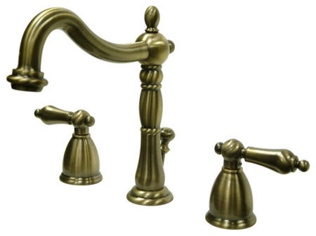 Kingston Brass KB1973AL Vintage Brass Heritage Heritage Widespread contemporary-bathroom-faucets