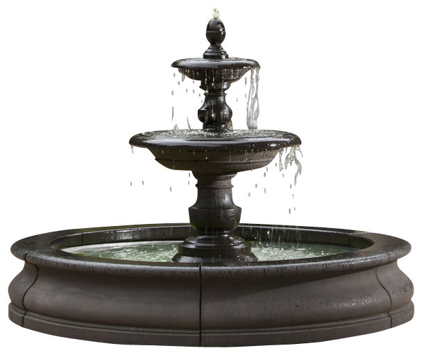caterina outdoor water fountain in basin traditional outdoor fountains by soothing company