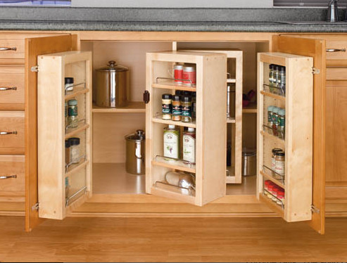 Base cabinet swing out pantry system for Kitchen cabinet accessories