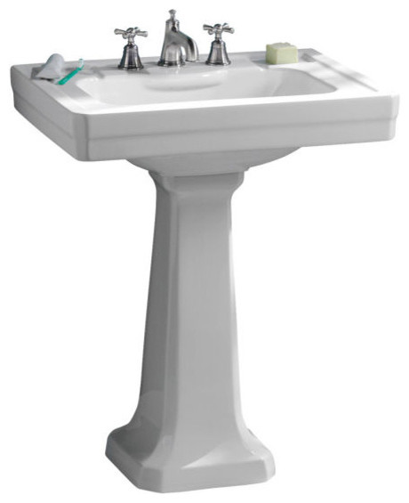 2 Pedestal Sinks Bathroom : Inch Pedestal Lavatory Sink by Porcher - Traditional - Bathroom Sinks ...