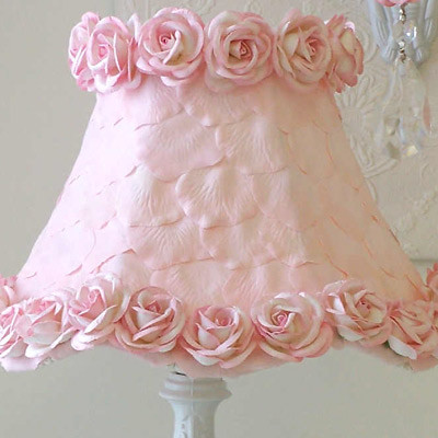 Pink Petals and Roses Lamp Shade traditional-kids-lamps