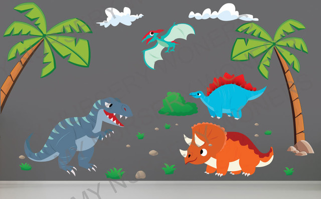Dinosaur Wall Decals For Nursery Removable amp Reusable