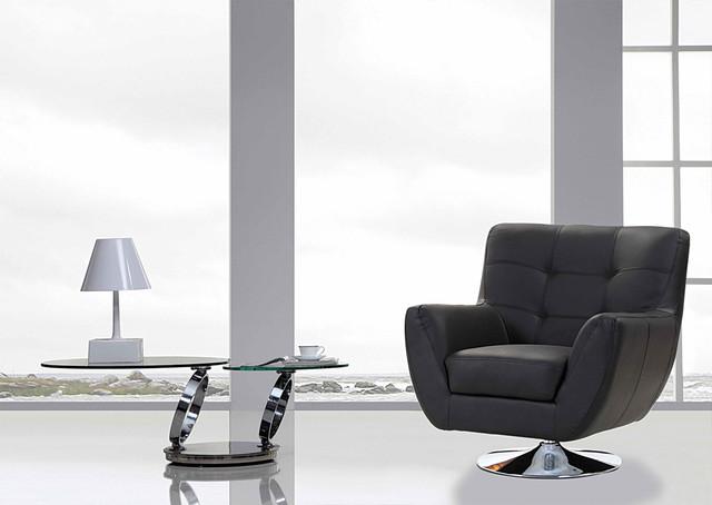 Modern black swivel lounge chair niko modern accent chairs