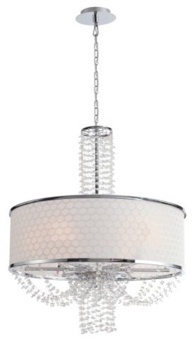 Crystorama 9806-CH Allure Chandelier - 24W in. contemporary-chandeliers
