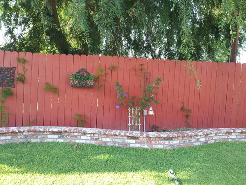 Flower Bed Fencing : ... with protecting wood fence from dirt and humidity on raised flower bed