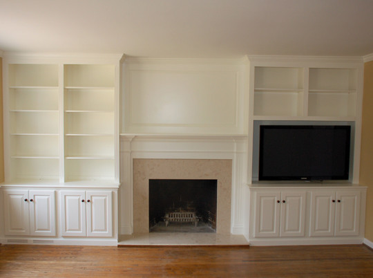 White Painted Fireplace Unit