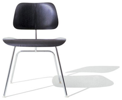 Eames Molded Plywood Metal Leg Dining Chair By Herman Miller Modern Dinin