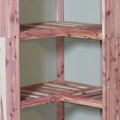 Cedar Corner Shelf Ventilated Contemporary Closet