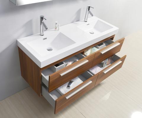 54 inch double sink plum bathroom vanity contemporary los angeles by vanities for bathrooms. Black Bedroom Furniture Sets. Home Design Ideas