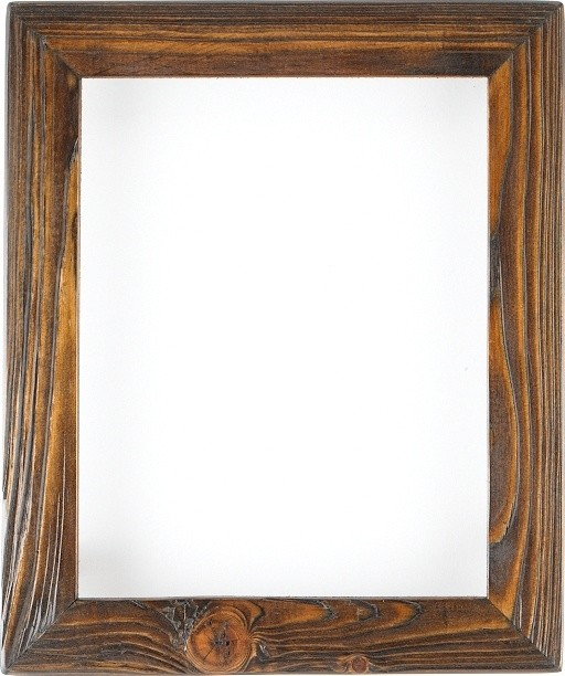 Weathered picture frame in charred timber home decor for Timber frame accents