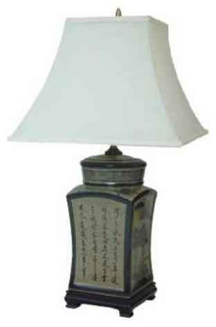 25 Inch Porcelain Lamp asian-table-lamps