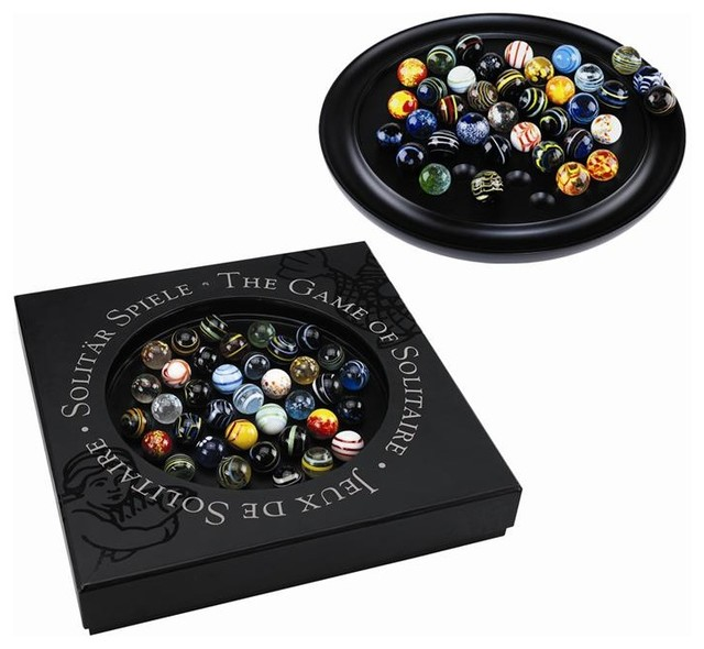 Colored Glass Marble Solitaire Table Game traditional-kids-toys-and-games