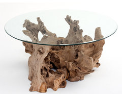 Driftwood Coffee Table contemporary coffee tables