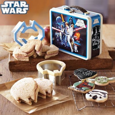 Star Wars Sandwich Cutters with Vintage-Style Tin eclectic food containers and storage