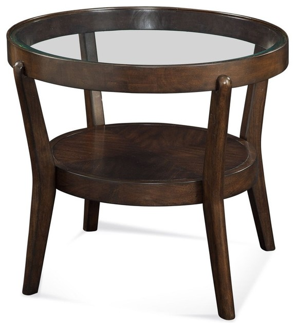 Bassett Mirror Priazzo Round End Table T2616 220