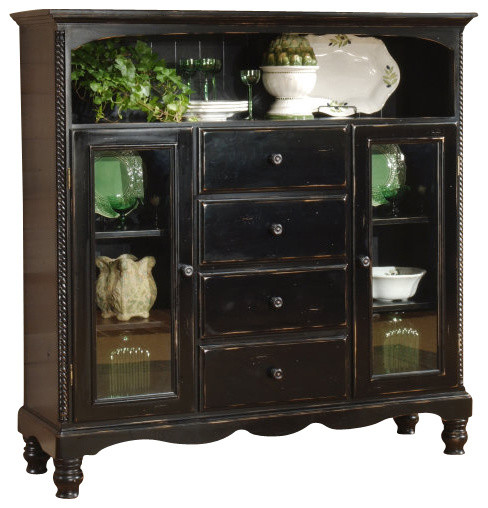 Hillsdale Wilshire Four Drawer Bakers Cabinet in Rubbed Black - Traditional - Accent Chests And ...